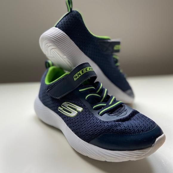 Skechers Boys Shoe Navy Blue Green
